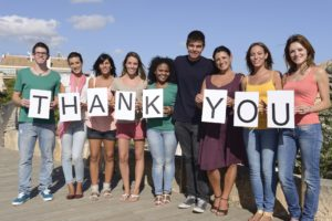 BEING GRATEFUL with our coworkers can completely transform a workplace. Let it begin with you. Image courtesy of shutterstock.com/mangostock