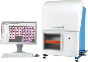 FIGURE 6. Automated system designed to capture images and classify cell types. (Photo courtesy of CellaVision NorthAmerica, Durham, NC. cellavision.com/en/)